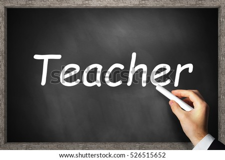 black chalkboard teacher with wooden border 3D Illustration