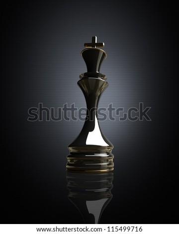 Black chess king background 3d illustration. high resolution - stock photo
