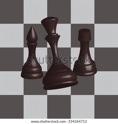 Black chess set