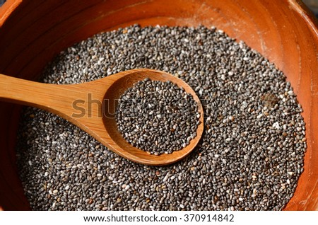 Black chia seeds, healthy and nutritious super food