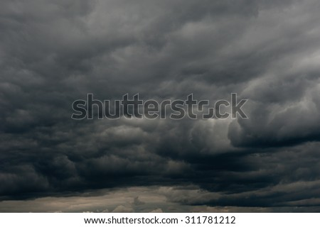 black clouds