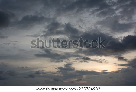 Black clouds in the sky - stock photo