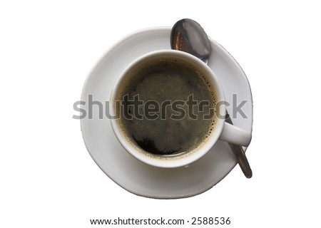 black coffe-isolated - stock photo