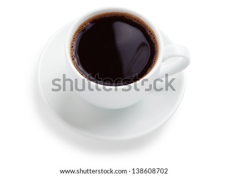 Black Coffee. Isolated on white background