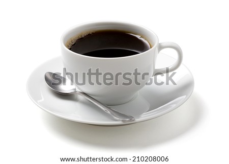black coffee  on white