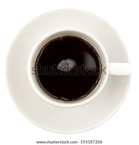 black coffee top on white background - stock photo