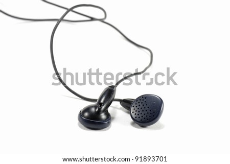 black color earphones to listen to music or talking on the mobile