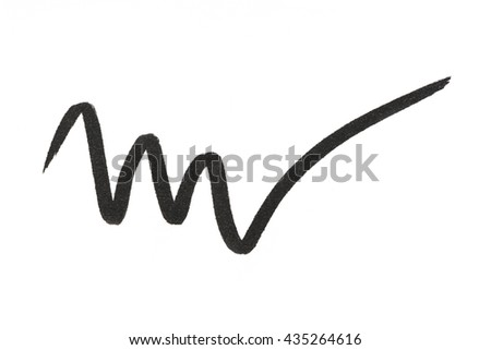 Black color Eye liner stroke on background - stock photo