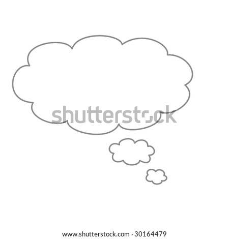 Black comics balloon a over white background - stock photo