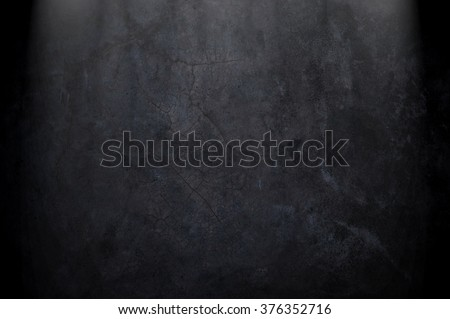 black concrete wall - stock photo