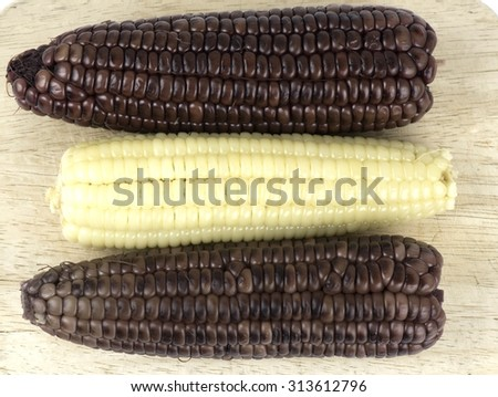 Black corn  - stock photo
