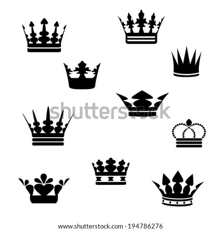black crowns - stock photo
