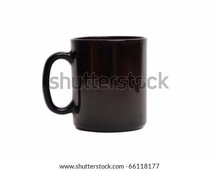 Black cup - stock photo