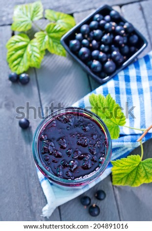 black currant jam - stock photo