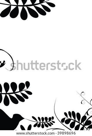 black decoration with place for sample text illustration