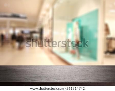 black desk  - stock photo