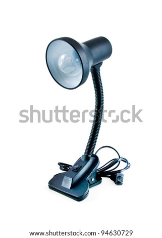 Black Desk lamp isolated on a white background - stock photo
