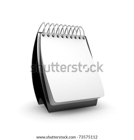 Black Desktop Calendar - stock photo