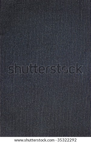 Black Detailed Corduroy Texture Background, textured cord fabric, vertical velveteen pattern copy space - stock photo