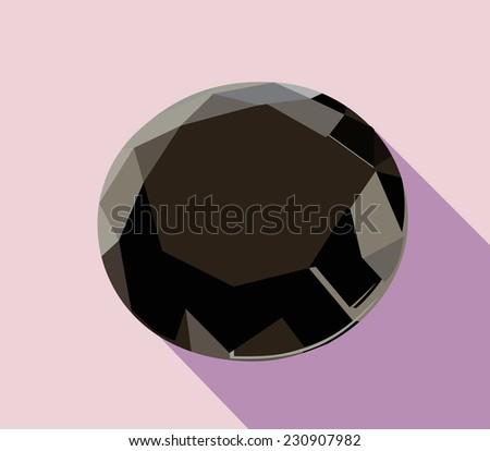 black diamond - stock photo