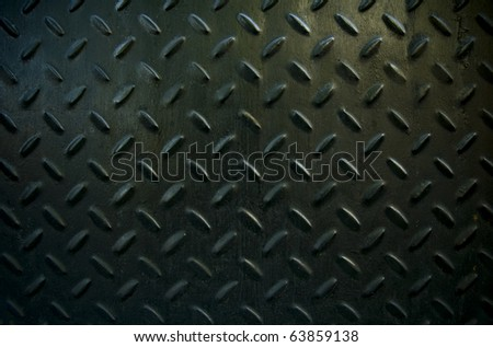 black diamond plate - stock photo