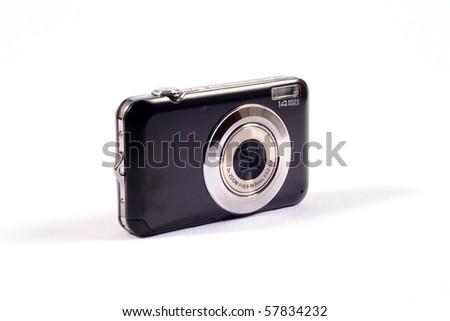 Black digital camera - stock photo