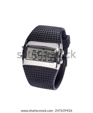 Black Digital Watch - stock photo