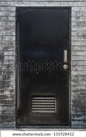 black doors - stock photo