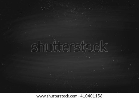 Black empty chalkboard background, surface and texture with copy space. Template for school or restaurant menu design. Illustration - stock photo