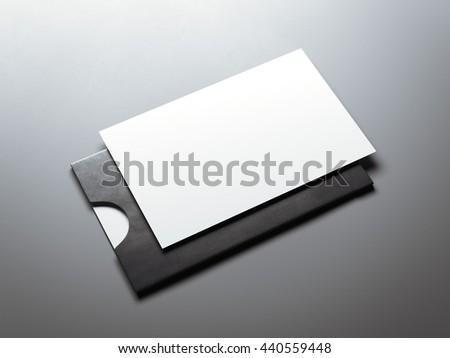 Black envelope white blank business card stock illustration black envelope and white blank business card 3d rendering reheart Image collections