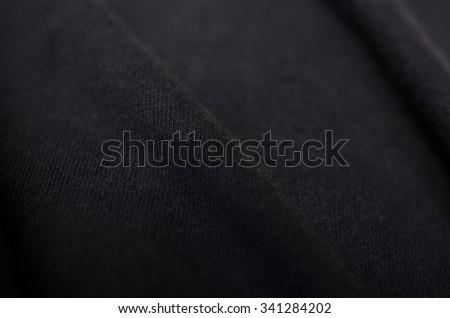 Black fabric - stock photo