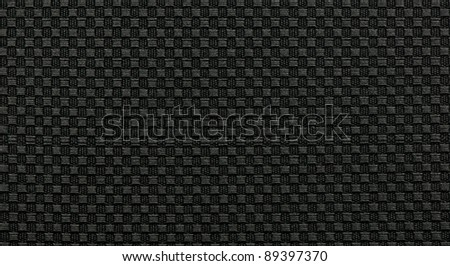 black fabric texture background - stock photo