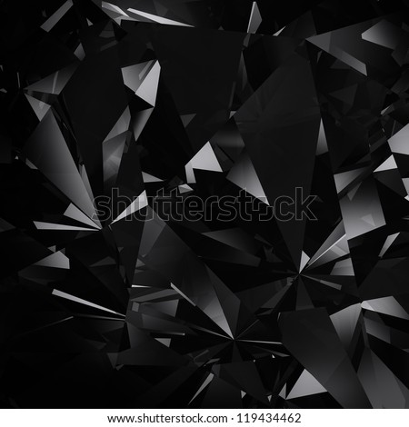 black facet background - stock photo