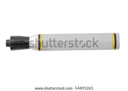 Black felt tip marker on a white background - stock photo