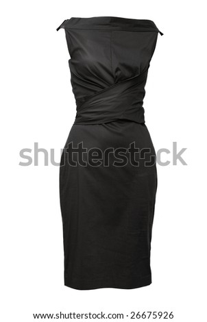 black female dress isolated on white