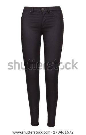 black female jeans - stock photo