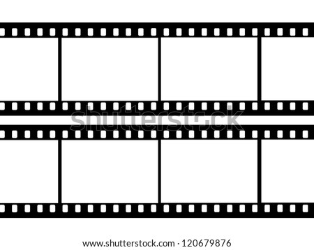 black film sheet on background white - stock photo