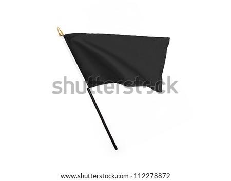 Black flag isolated on white background - stock photo