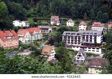 Black Forest region / Schwarzwald scenery, southwestern Germany - stock photo