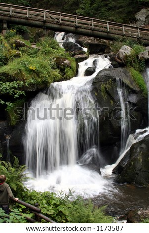 Black Forest Waterfall 1 - stock photo