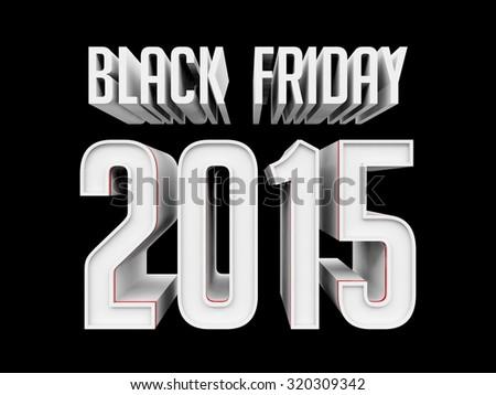 Black Friday 2015 - stock photo