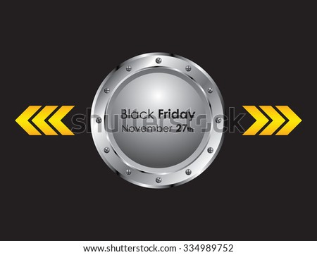 black friday background with metallic design - stock photo