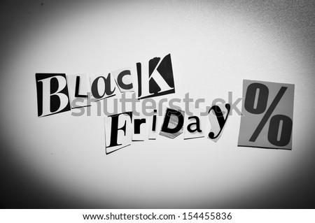 black friday collage - stock photo
