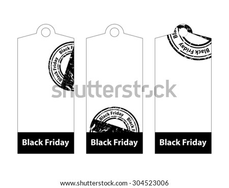 black friday price tags - stock photo