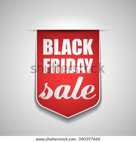 Black Friday tag - stock photo