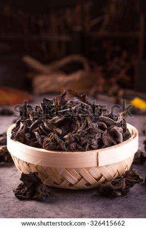 black Fungus - stock photo