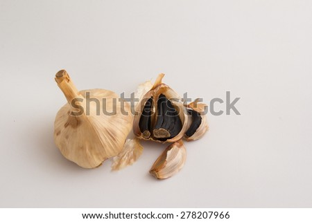 Black garlics 11 - stock photo