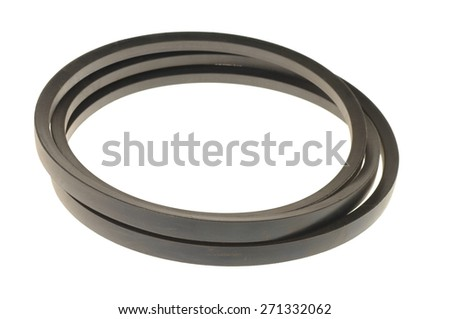 black gasket isolated on white