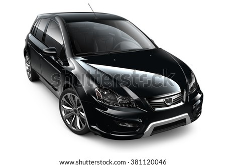 Black generic car