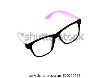 Black glasses, isolated on white background